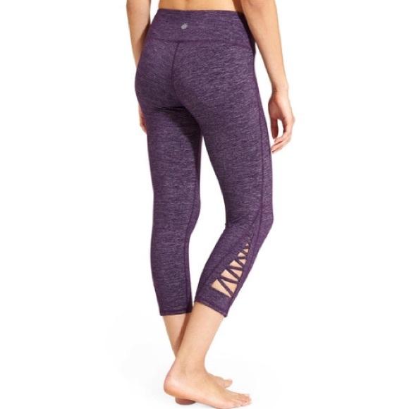 636ac18fb096e Athleta Pants | Purple Cropped Leggings | Poshmark